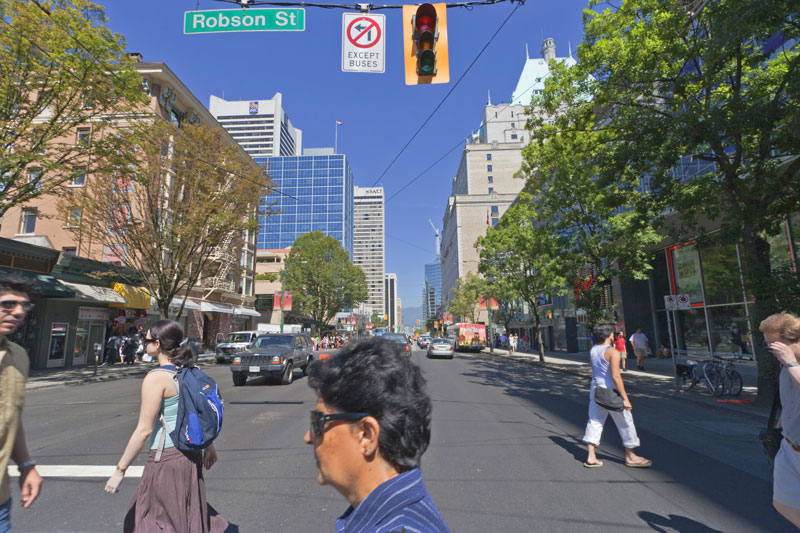 Pedestrians at a Vancouver Crosswalk - Pacific Law Group