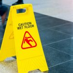 Caution Wet Floor Sign - Slip and Fall Injuries in Vancouver